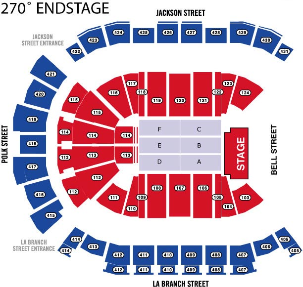 Houston Toyota Center Seating Maps